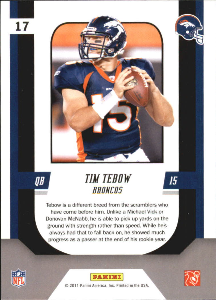 2011 Score Complete Players #17 Tim Tebow back image