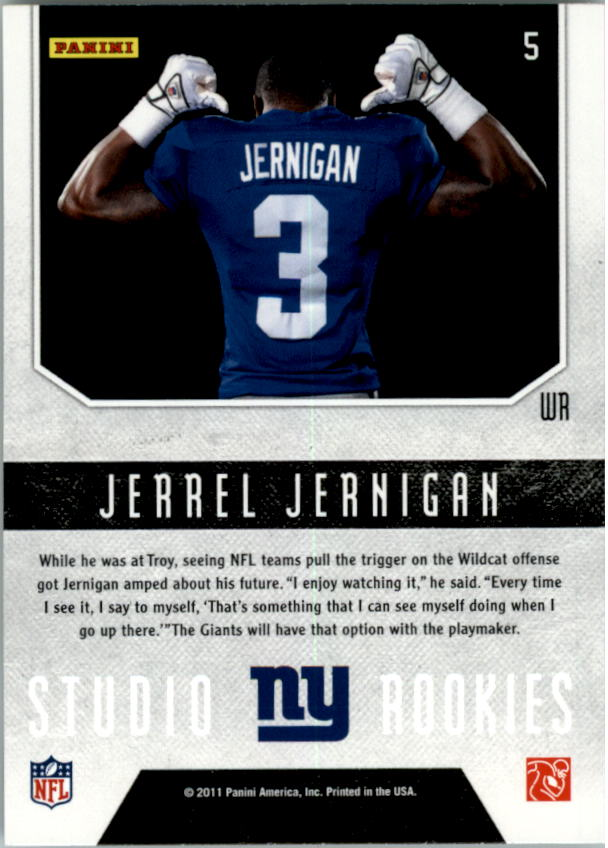 2011 Rookies and Stars Studio Rookies #5 Jerrel Jernigan back image