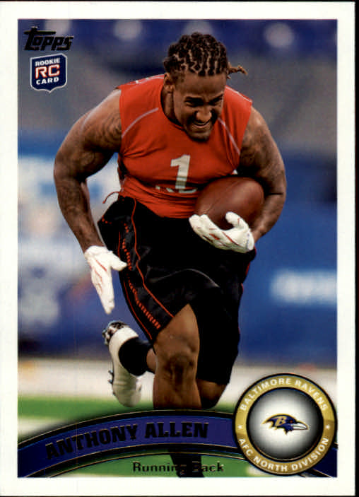 2011 Topps #82 Anthony Allen RC