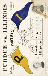 1912 College Captains and Teams Postcards #1 Purdue vs. Illinois/(November 9, 1912)/Hutchison (Purdue)/Woolston (Illinois)