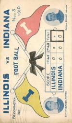 1910 College Captains and Teams Postcards #1 Illinois vs. Indiana/(November 5, 1910)/Butzer (Illinois)/Berndt (Indian
