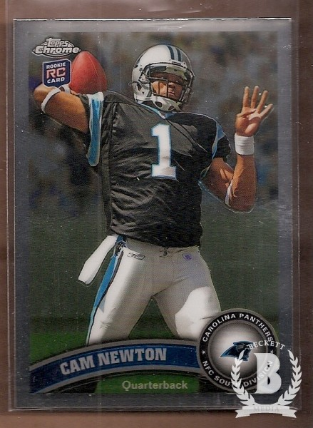 2011 Topps Chrome #1A Cam Newton RC/(football over right shoulder)