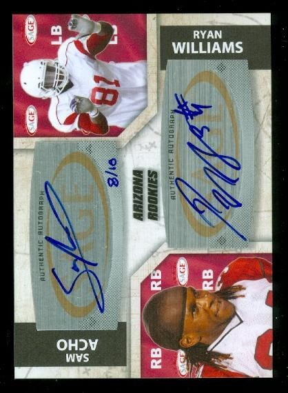 2011 SAGE Five Star Dual Autographs #A2 Ryan Williams/10/Sam Acho