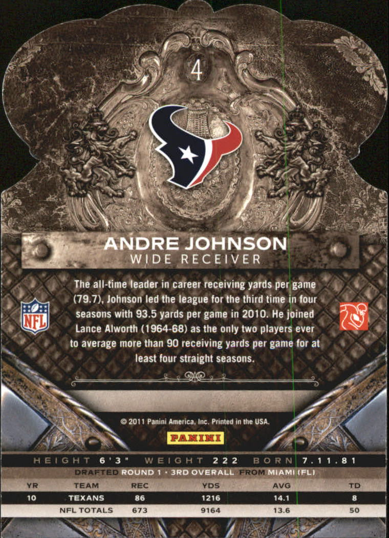 2011 Crown Royale #4 Andre Johnson back image