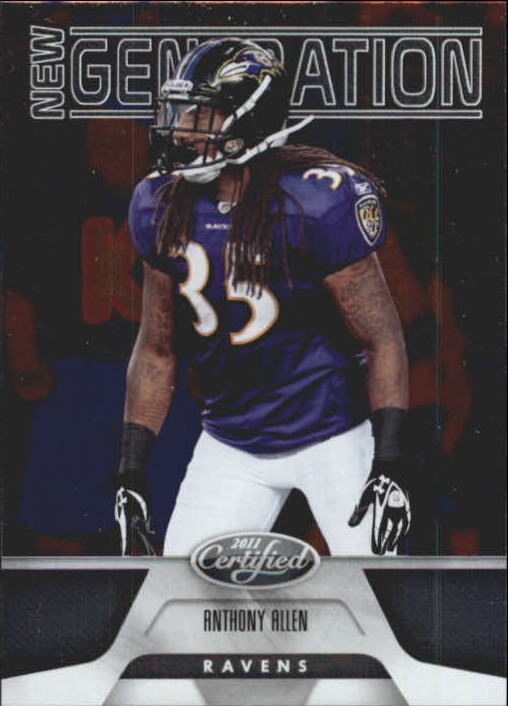 2011 Certified #158 Anthony Allen RC