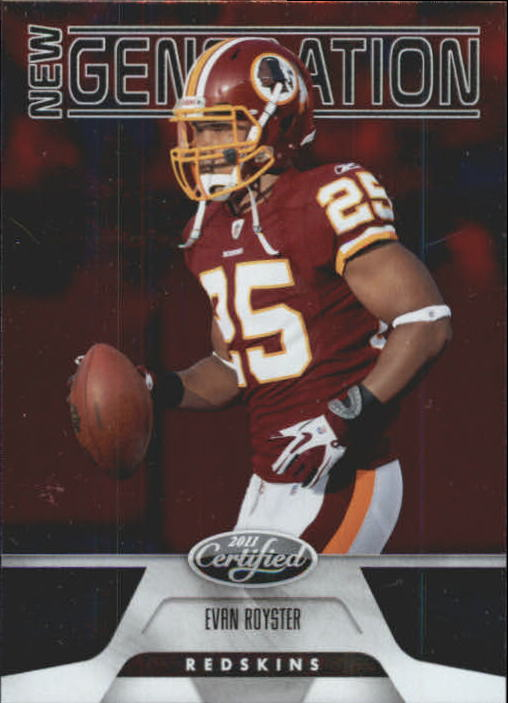 2011 Certified #181 Evan Royster RC