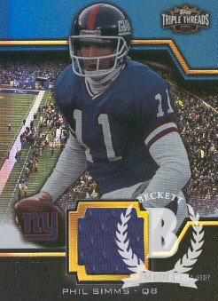 2011 Topps Triple Threads Unity Relics #TTUSR9 Phil Simms