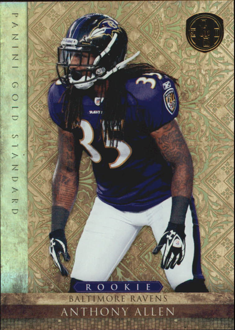 2011 Panini Gold Standard #158 Anthony Allen RC