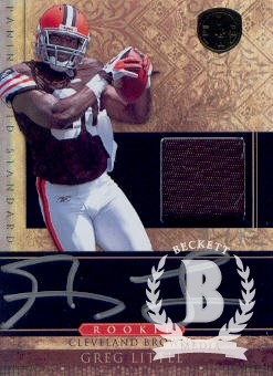 2011 Panini Gold Standard #269 Greg Little JSY AU/525 RC