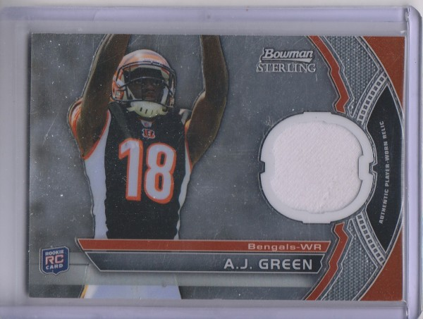 2011 Bowman Sterling #BSRAJG A.J. Green JSY RC