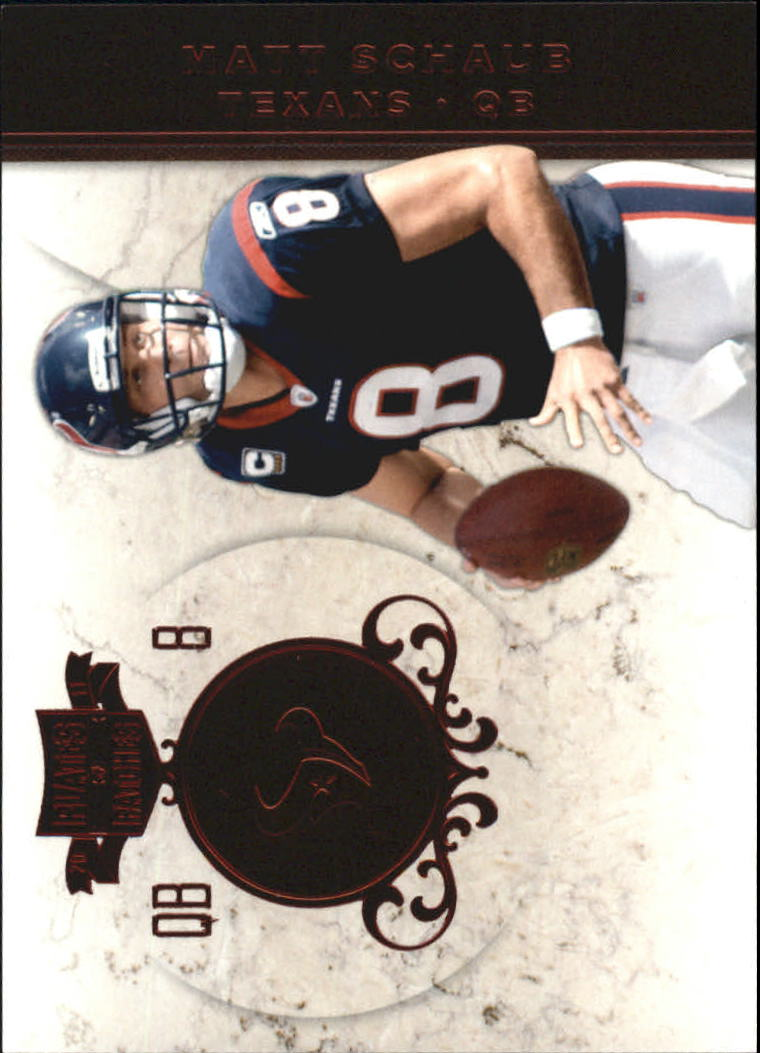 2011 Panini Plates and Patches #8 Matt Schaub