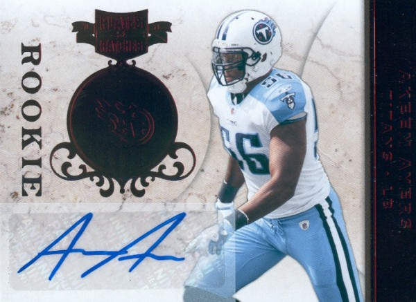 2011 Panini Plates and Patches #105 Akeem Ayers AU/360 RC