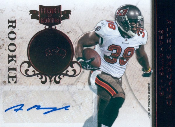 2011 Panini Plates and Patches #109 Allen Bradford AU/273 RC