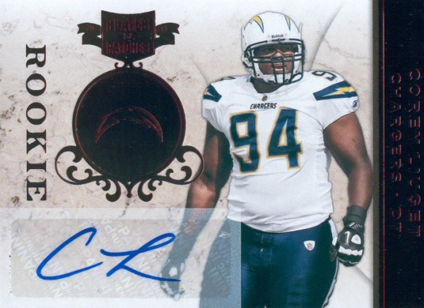 2011 Panini Plates and Patches #119 Corey Liuget AU/150 RC