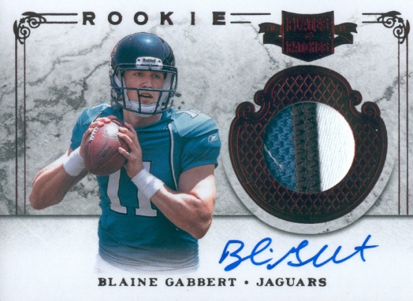 2011 Panini Plates and Patches #207 Blaine Gabbert JSY AU/299 RC