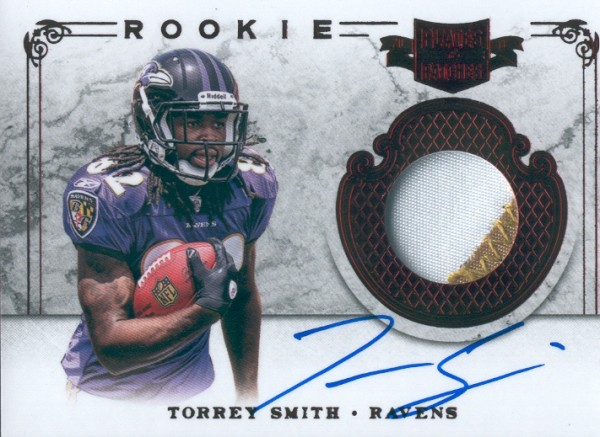 2011 Panini Plates and Patches #218 Torrey Smith JSY AU/499 RC