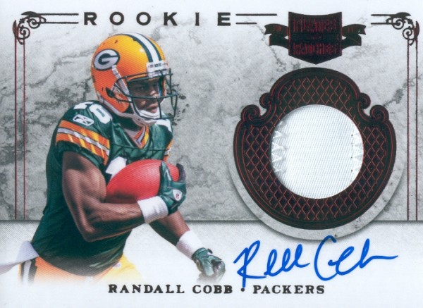 2011 Panini Plates and Patches #221 Randall Cobb JSY AU/499 RC