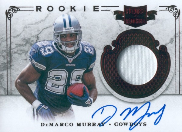 2011 Panini Plates and Patches #222 DeMarco Murray JSY AU/499 RC