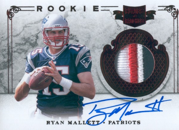 2011 Panini Plates and Patches #224 Ryan Mallett JSY AU/299 RC