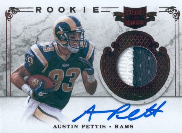 2011 Panini Plates and Patches #225 Austin Pettis JSY AU/499 RC