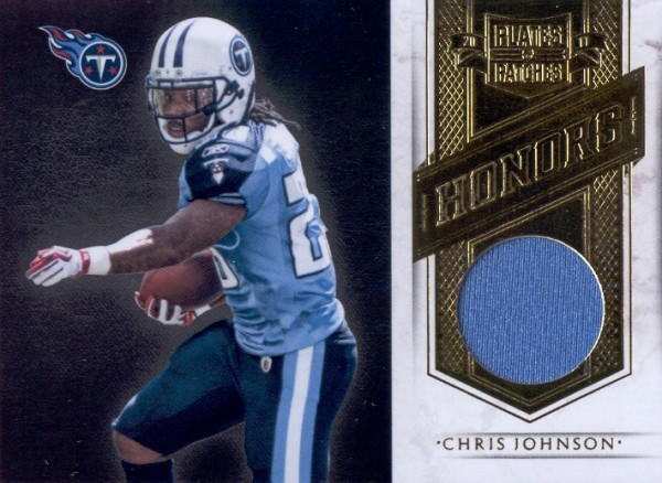 2011 Panini Plates and Patches Honors Materials  9 Chris Johnson 299 0a5d70e7d