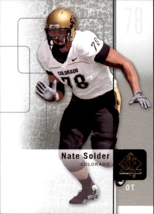 2011 SP Authentic #22 Nate Solder
