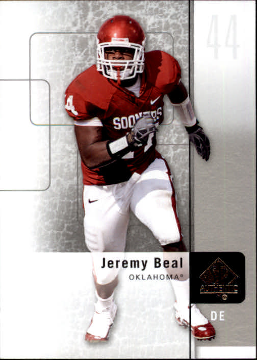 2011 SP Authentic #50 Jeremy Beal
