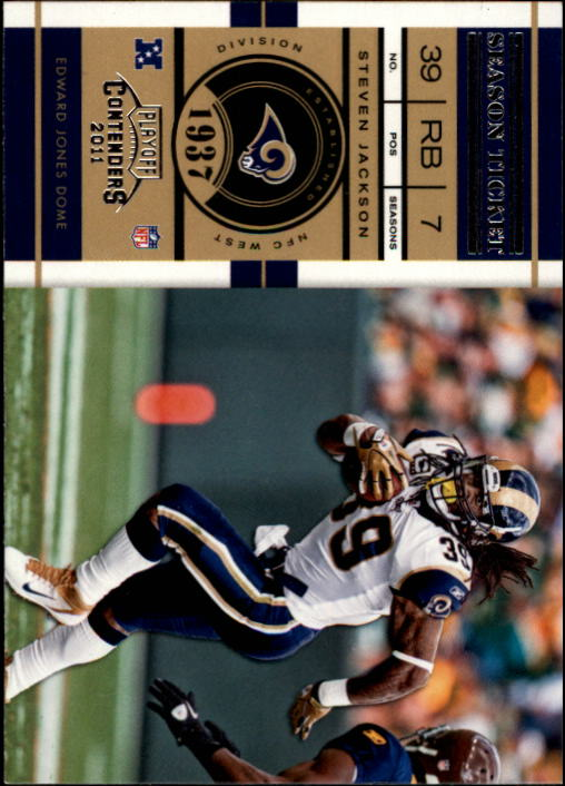 2011 Playoff Contenders #100 Steven Jackson