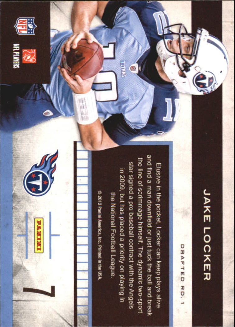 2011 Playoff Contenders Rookie Roll Call #7 Jake Locker back image