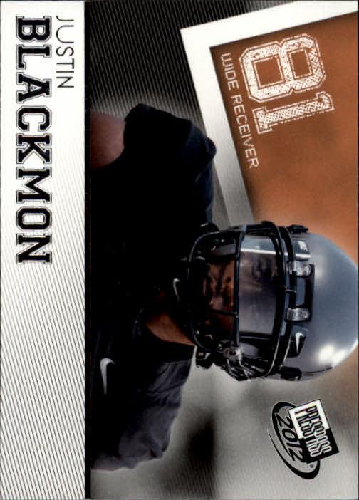 2012 Press Pass #3 Justin Blackmon