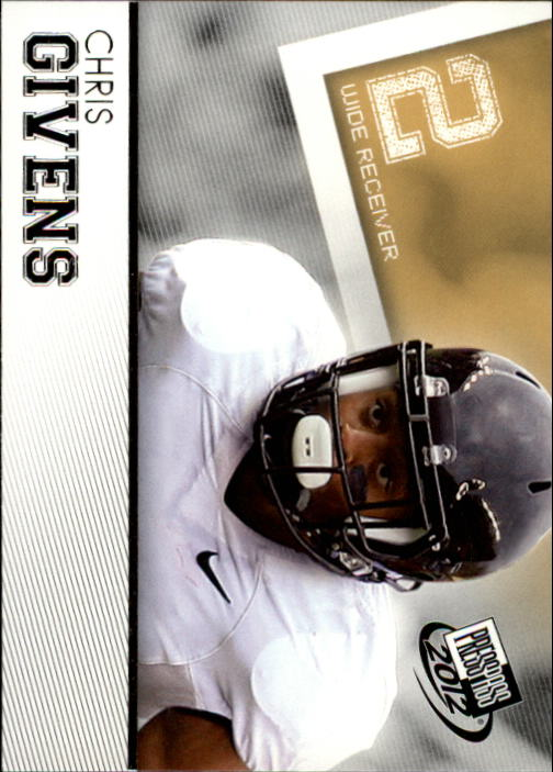 2012 Press Pass #17 Chris Givens