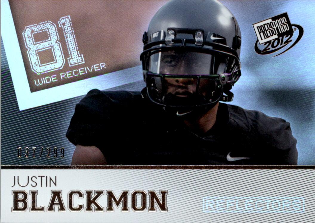 2012 Press Pass Reflectors #3 Justin Blackmon