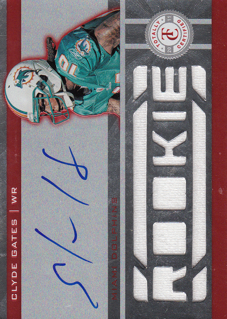 2011 Totally Certified Freshman Fabric Signatures Red #209 Clyde Gates JSY AU/300