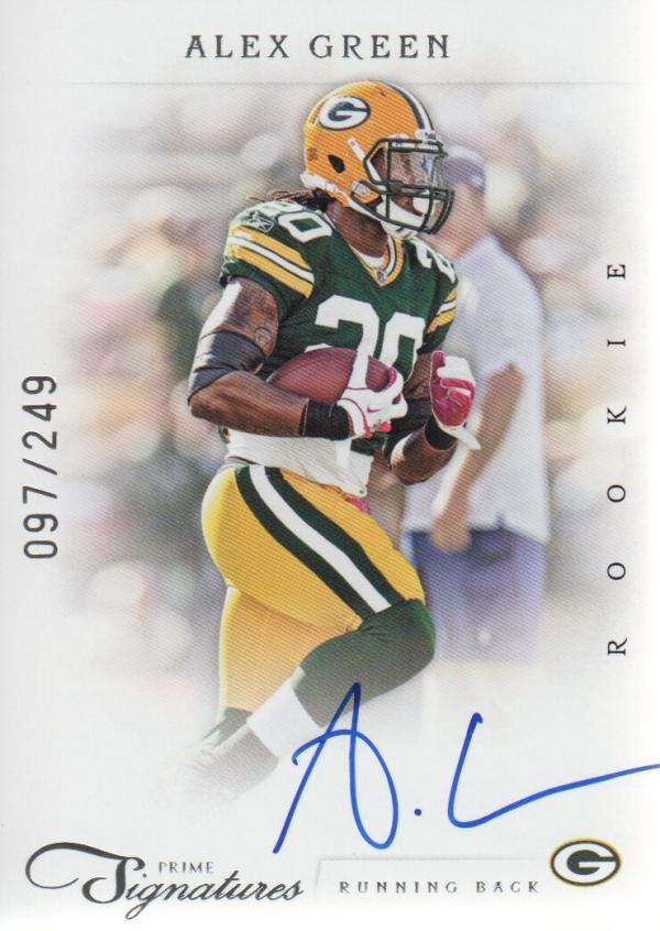 2011 Prime Signatures #227 Alex Green AU/249 RC