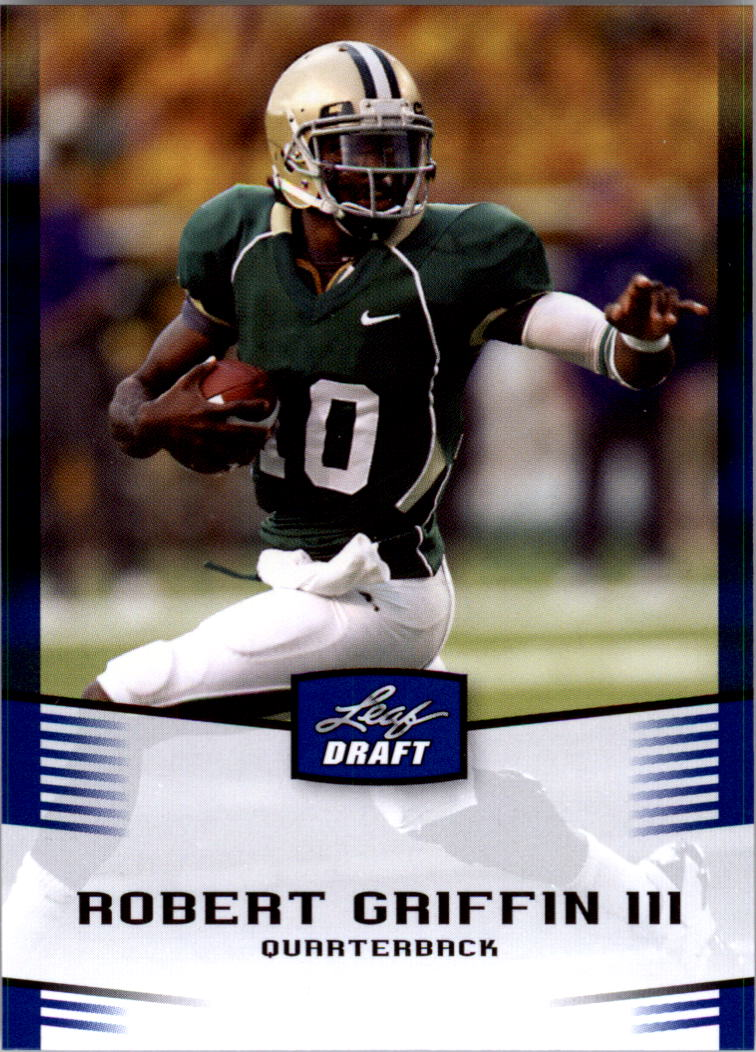2012 Leaf Draft Blue #40 Robert Griffin III