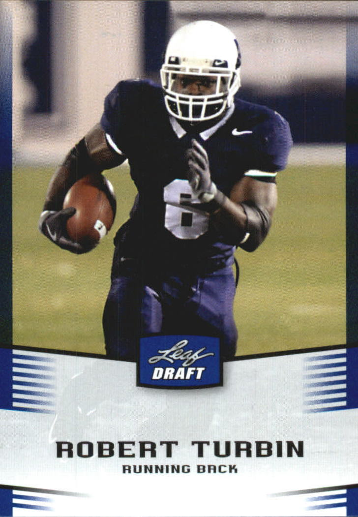2012 Leaf Draft Blue #41 Robert Turbin