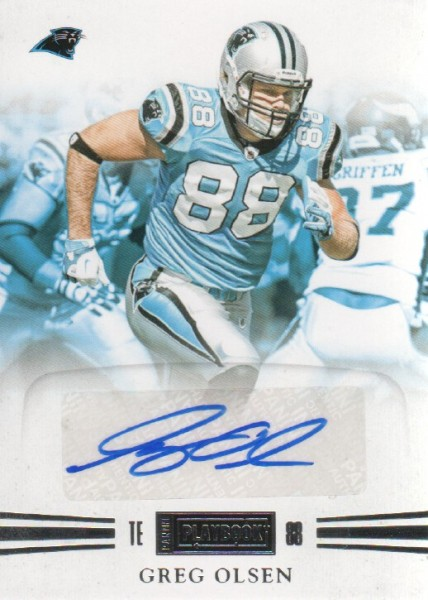 2011 Panini Playbook #12 Greg Olsen AU/99