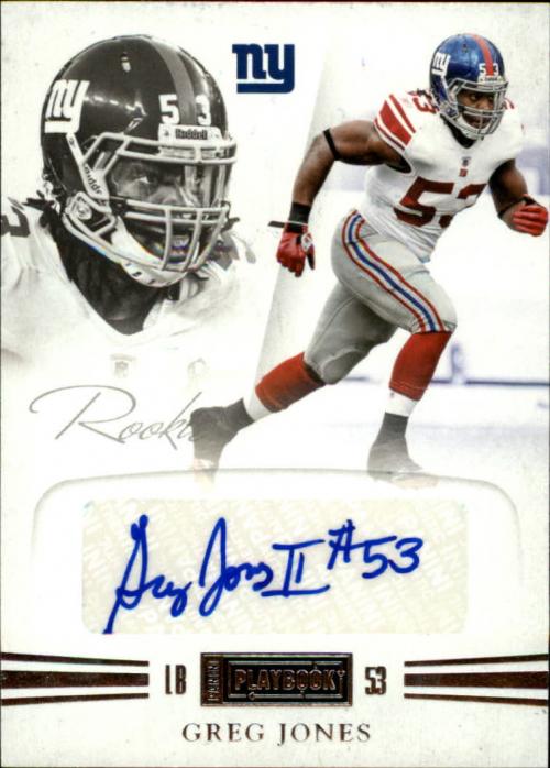 2011 Panini Playbook #66 Greg Jones AU/299 RC