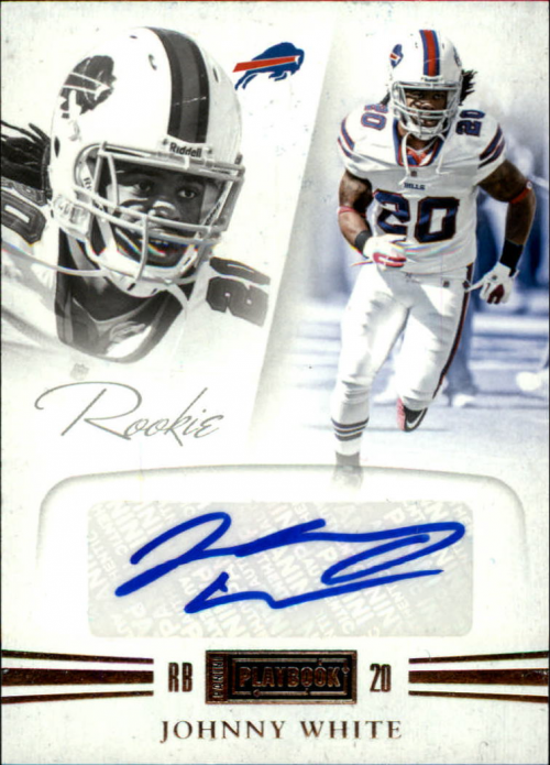 2011 Panini Playbook #72 Johnny White AU/299 RC