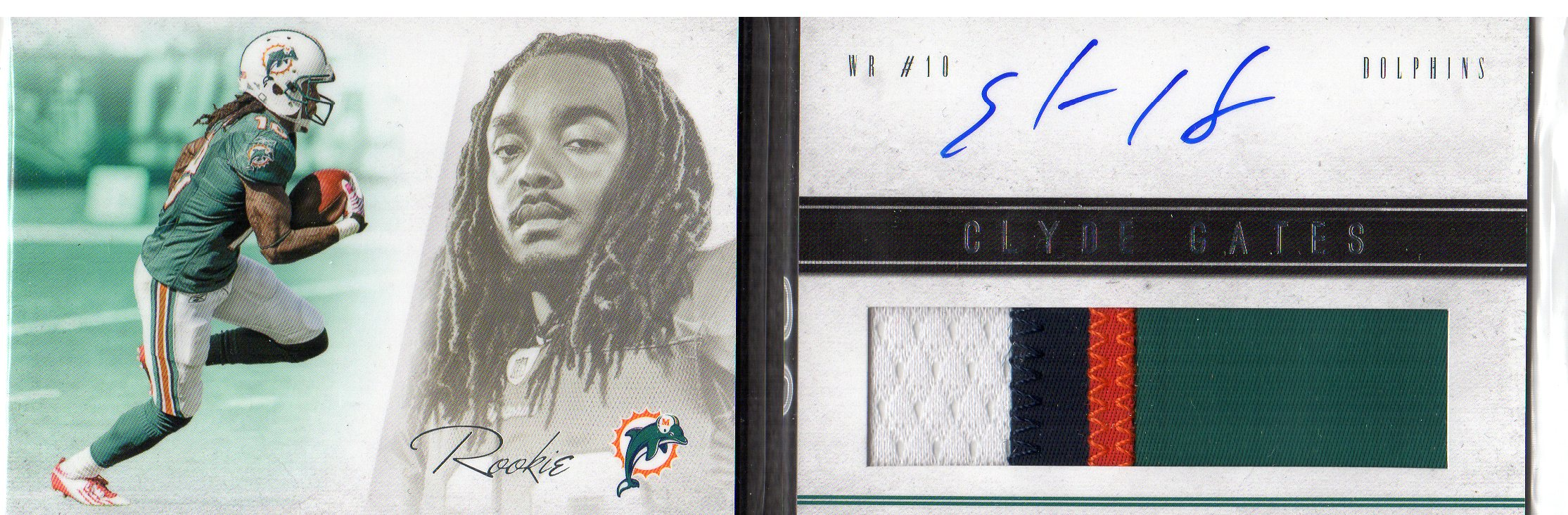2011 Panini Playbook #109 Clyde Gates JSY AU/399 RC