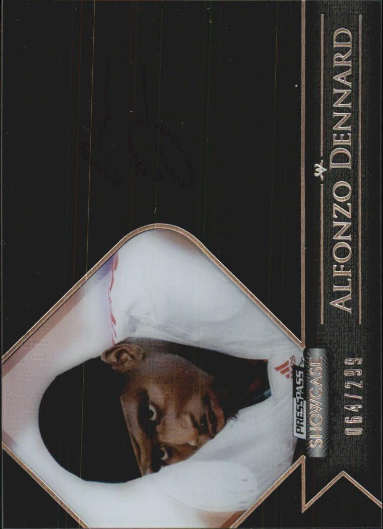 2012 Press Pass Showcase #SCAD Alfonzo Dennard/298*