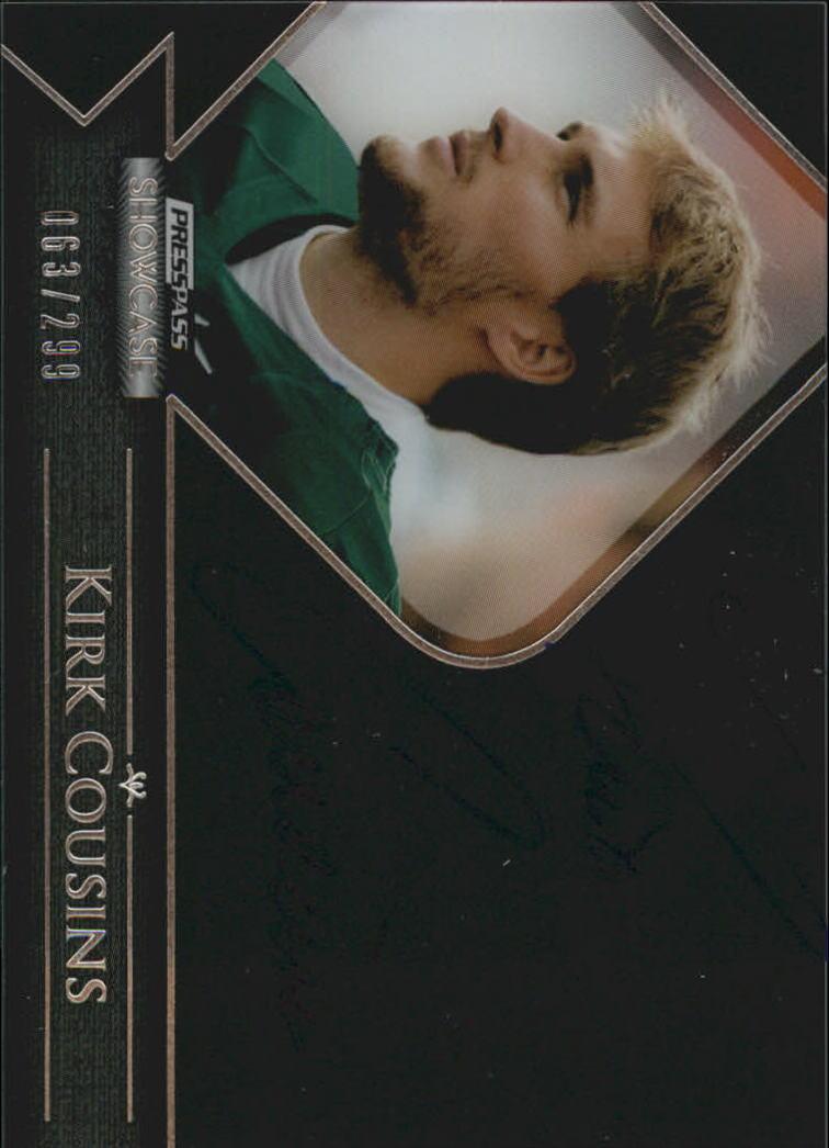 2012 Press Pass Showcase #SCKC Kirk Cousins/249*