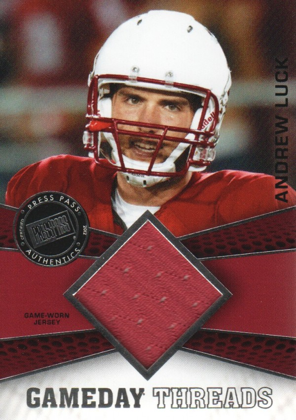 2012 Press Pass Showcase GameDay Threads Silver #GDTAL Andrew Luck