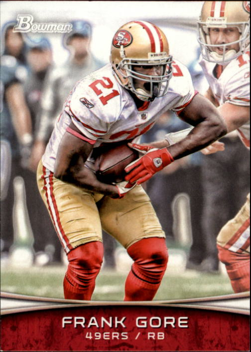 2012 Bowman #17 Frank Gore