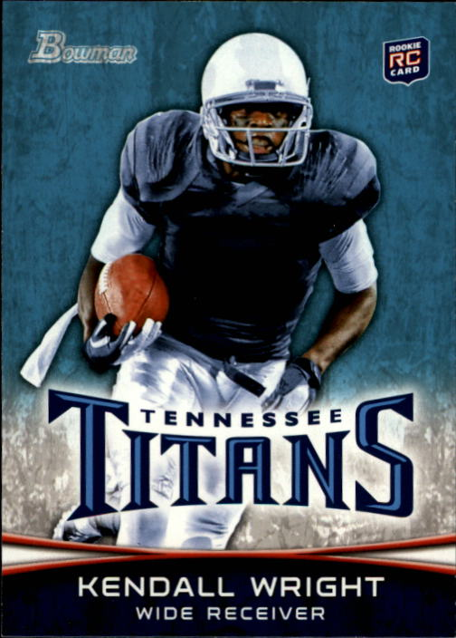 2012 Bowman #129A Kendall Wright RC/football in right hand