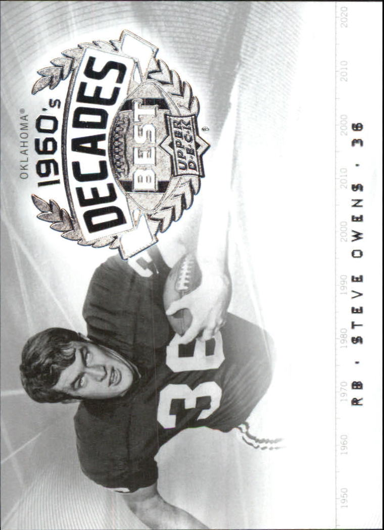 2011 Upper Deck College Legends Decades Best #DBSO Steve Owens