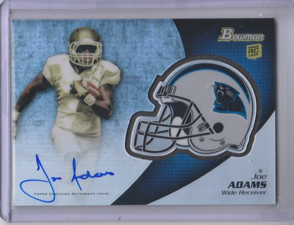 2012 Bowman Rookie Team Helmet Autographs #BCRAJA Joe Adams