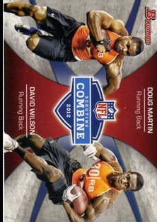 2012 Bowman Combine Competition #CCMW Doug Martin/David Wilson
