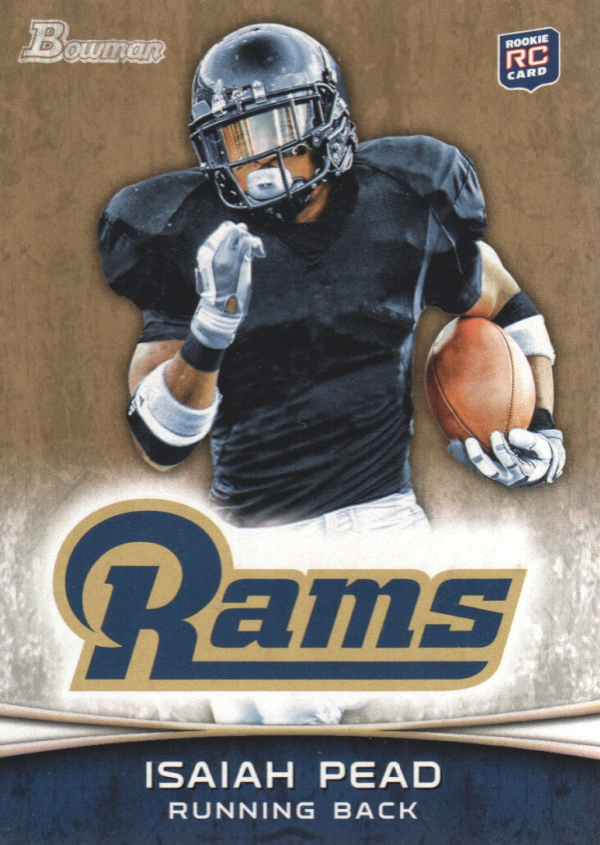 2012 Bowman Gold #111 Isaiah Pead
