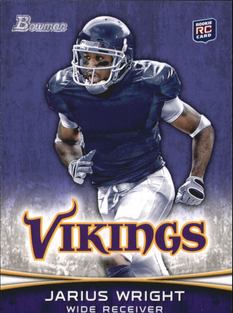 2012 Bowman Purple #109 Jarius Wright